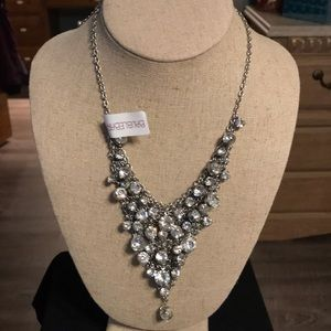 Bauble bar crystal silver necklace